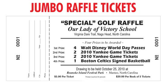 Raffle tickets  coupon books printers, wholesale prices - raffle ticket prizes