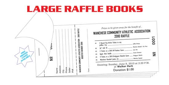 Raffle tickets  coupon books printers, wholesale prices - Coupon Book Printing