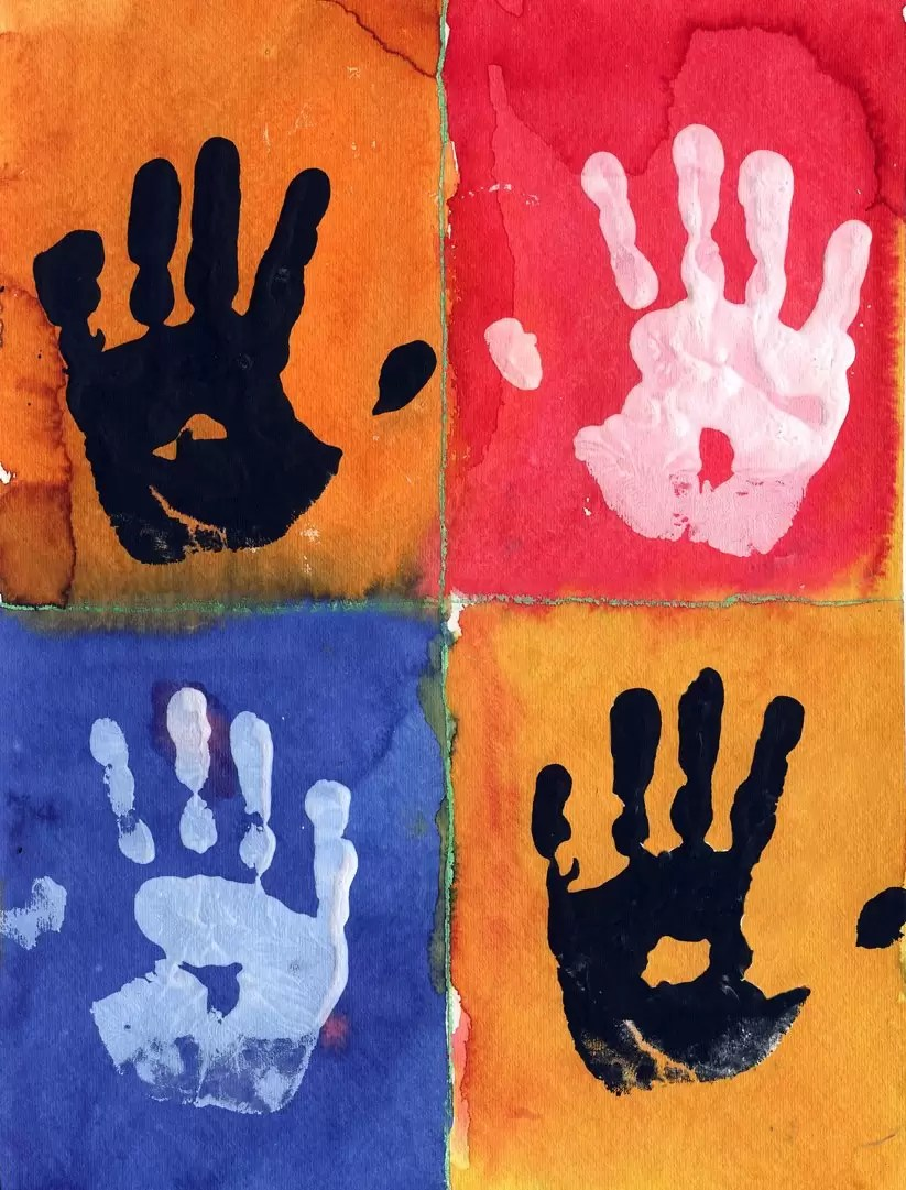 Cuadros De Picasso Para Colorear Warhol Hand Prints - Art Projects For Kids