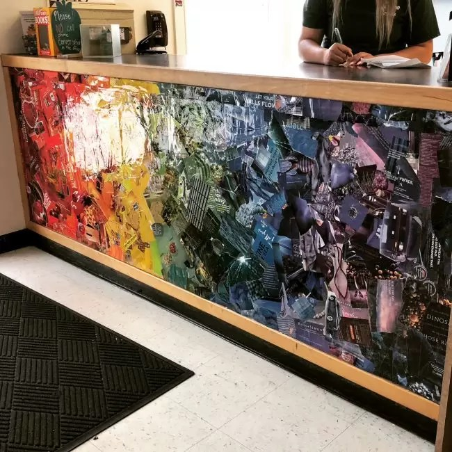 Front Office Rainbow Collage · Art Projects for Kids