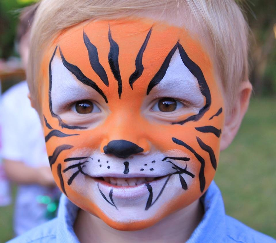 Kinderschminken Tiger Tiger Face Paintings
