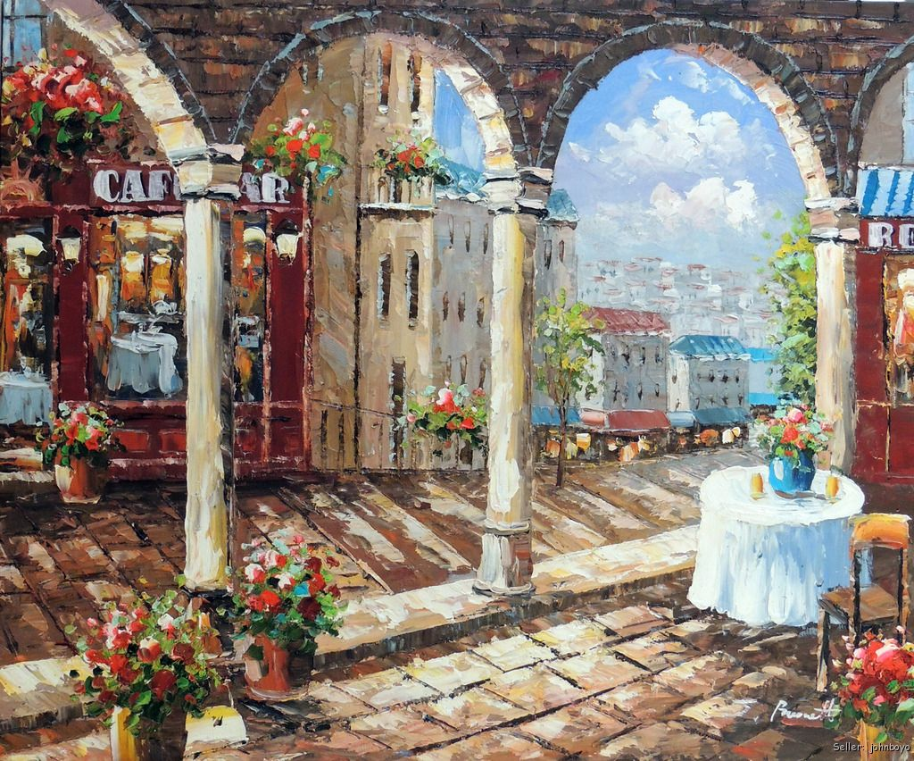 Arte Cafe Pizza Restaurant Paintings