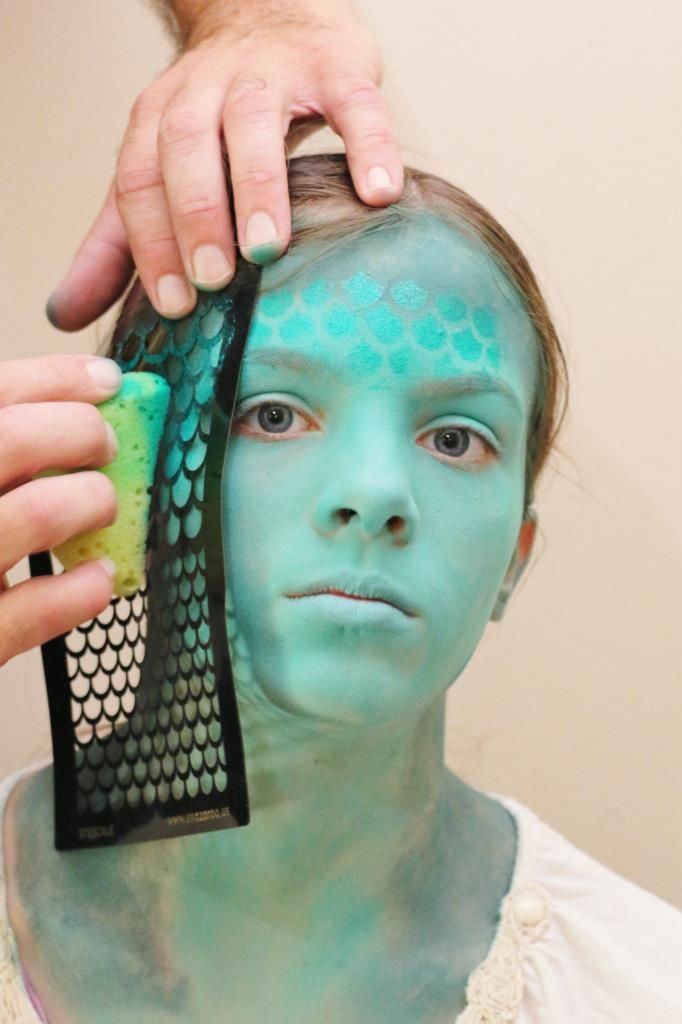 Kinderschminken Vorlagen Halloween Mermaid Face Paintings