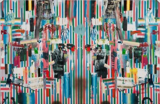 """Sleepless"", 2011, 60 x 110 inches"