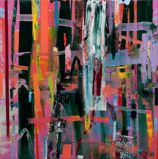 """Horrid, Torrid Times"", 2011, 84 x 84 inches"