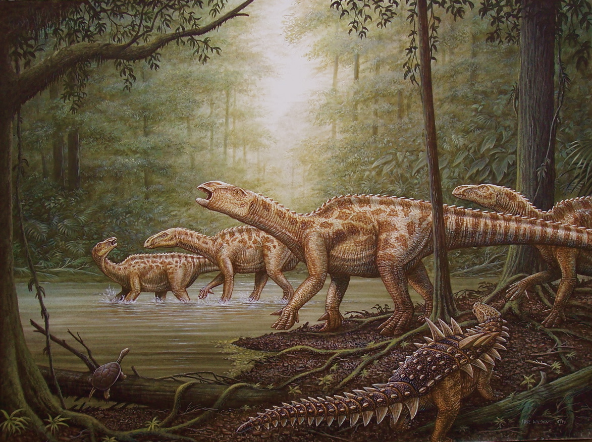 Animal Crossing Desktop Wallpaper New Dinosaur Painting By Phil Wilson Cliff Knecht Artist