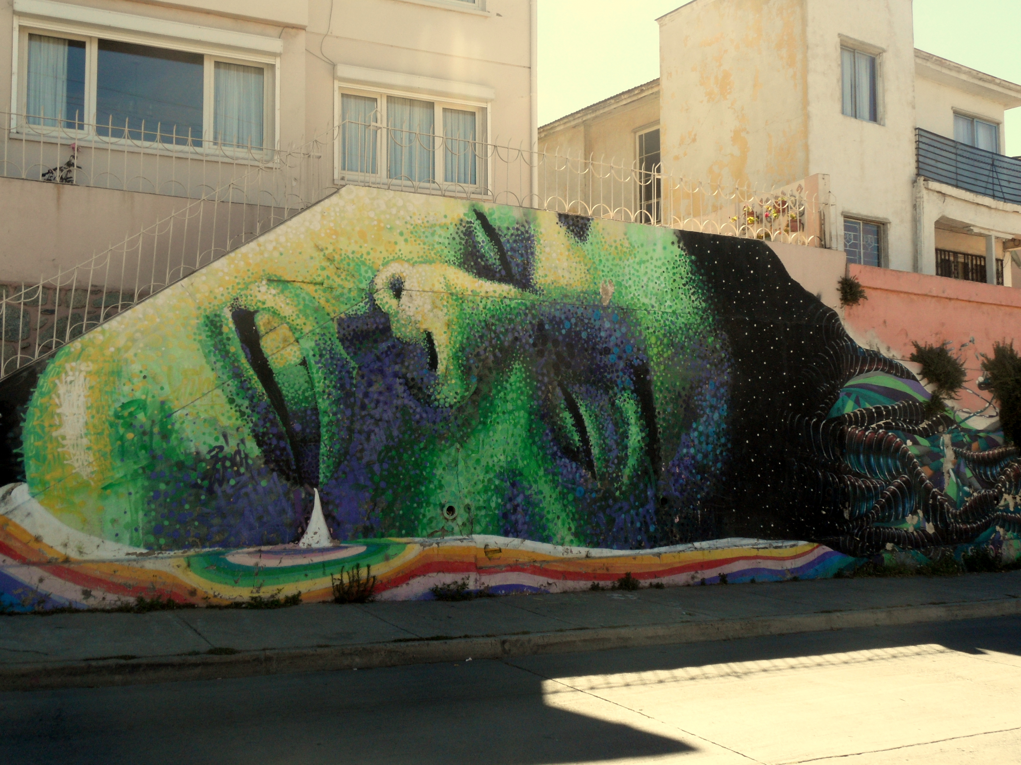 Arte Callejero Valparaiso Mural By Dasic Okuda In Valparaiso Chile Art Ring