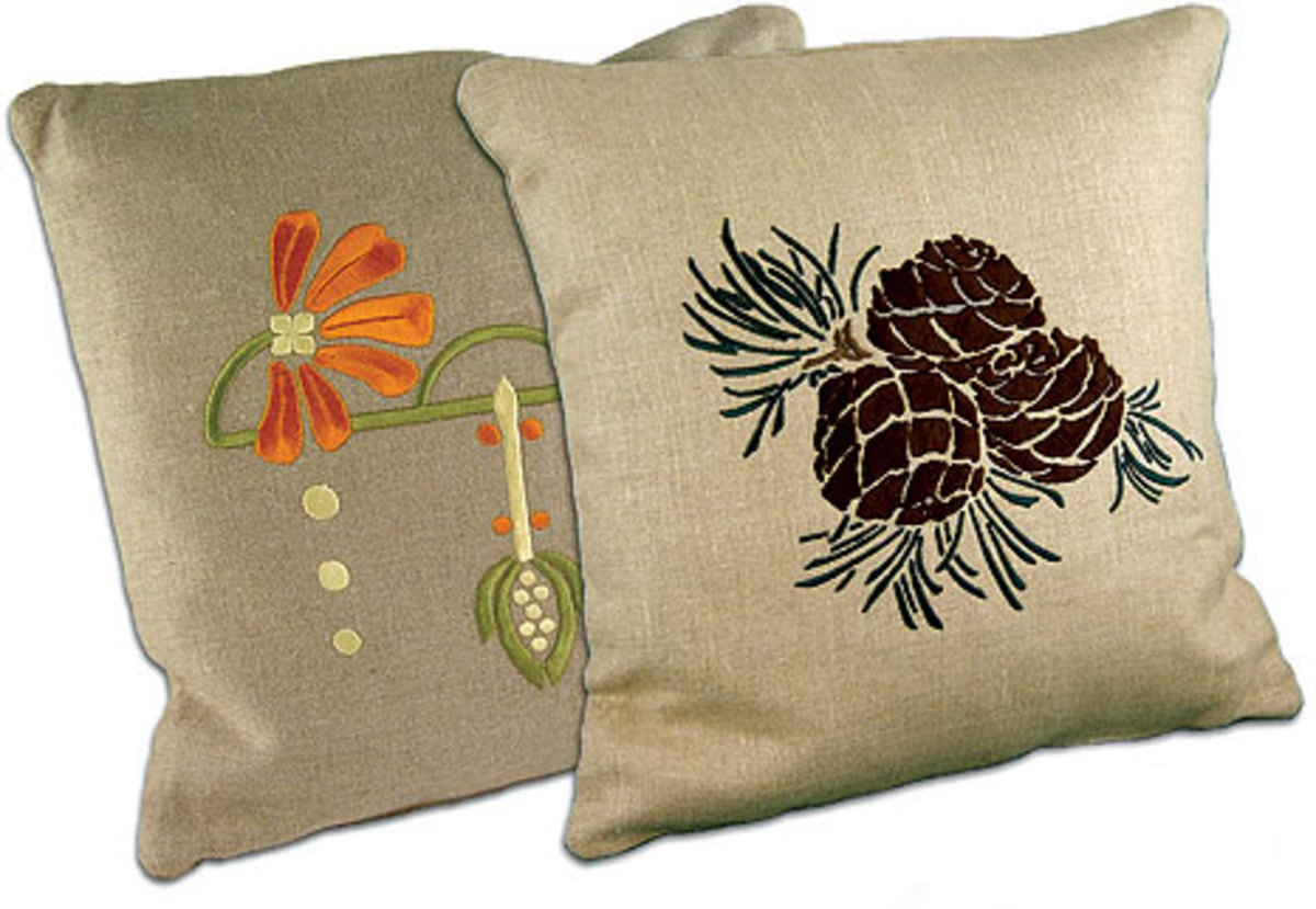 Above the pinecone is the quintessential arts crafts motif from ford craftsman studios