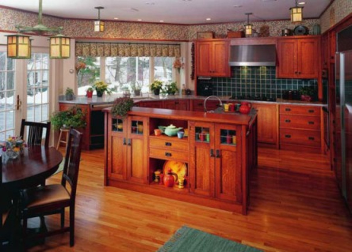 Kitchen Cabinets Red Oak Floors Cabinets Period Revival Design For The Arts Crafts House