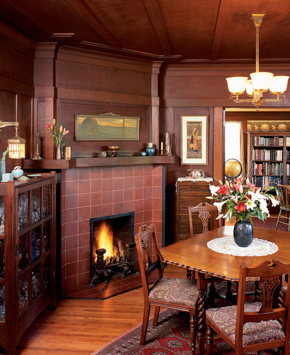 Craftsman Style Interior Doors Return Of The Hearth - Design For The Arts & Crafts House