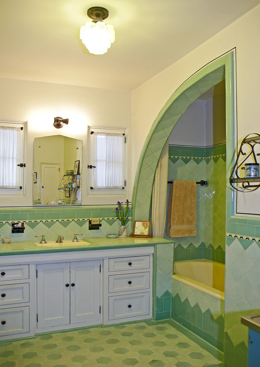 Bathroom In Spanish An Art Deco Bath In A Spanish Colonial House Design For The Arts