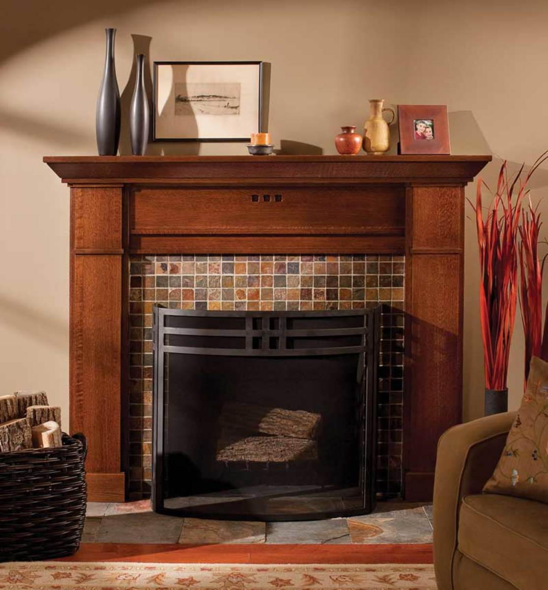 Bungalow Fireplace Mantel A Face For The Fireplace Arts And Crafts Homes And The
