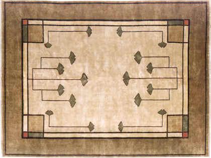 Fall Rug Wallpaper Traditional Gingko Rug