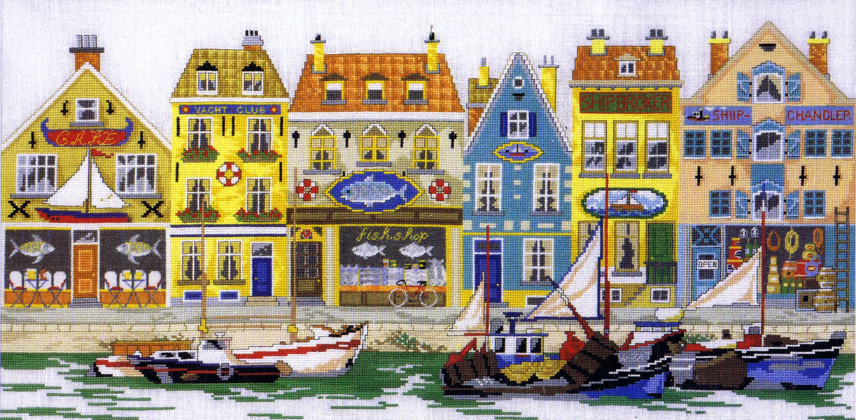 Sand Copenhagen Harbour - Cross Stitch Kit By Permin Of Copenhagen