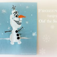 Frozen-Inspired Handprint Olaf and Winter Shadow Box