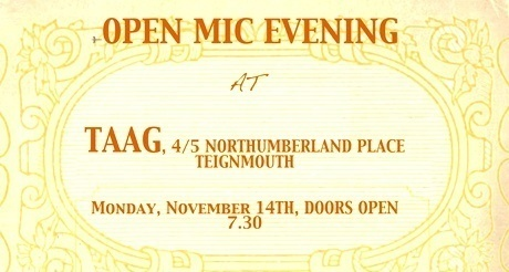 Open mic night in Teignmouth
