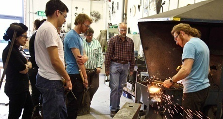 Group teaching -forging