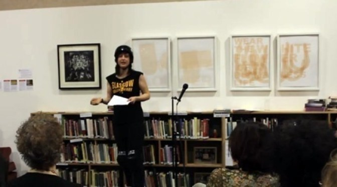 Ellie Harrison at the Glasgow Women's Libary