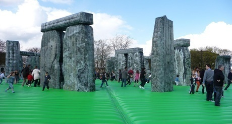 Sacrilege! Jeremy Deller's bouncy Stonehenge tours the UK