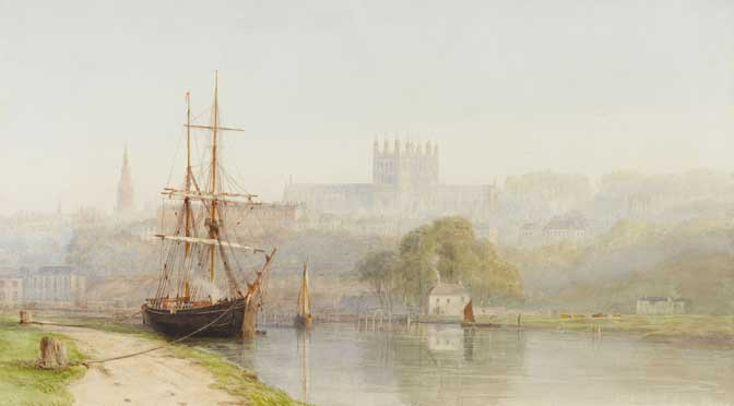 Fine art views of Exeter Canal and the Exe at the RAMM