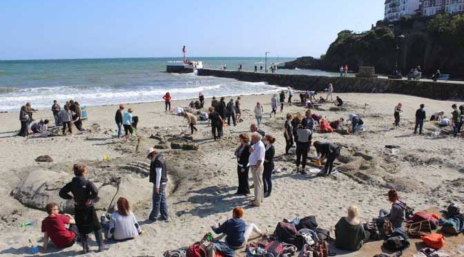 Plymouth College of Art students in Looe