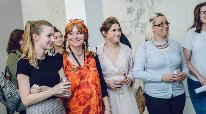 ECHO curating students (left to right) - Frances Phillips, Joanne Tyler, Fern Robinson, Sarah-Jane Rossi and Sybella Buttress