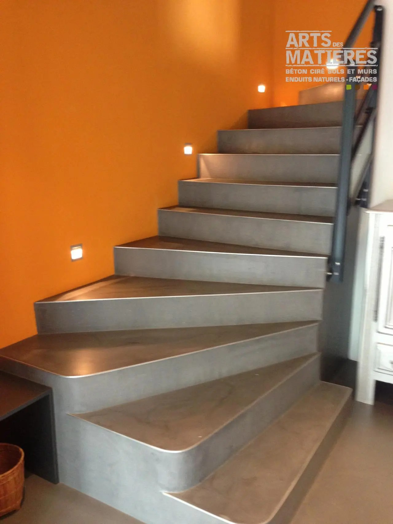 Terrasse Beton Vernis Finition Escalier Beton Stunning With Finition Escalier