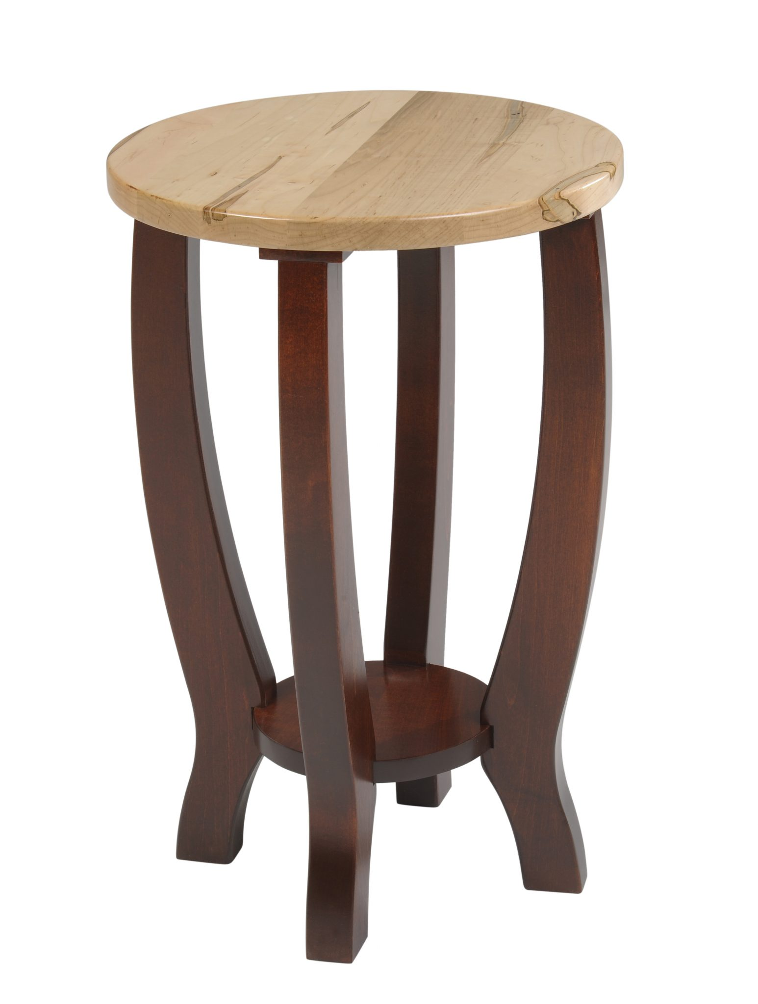 Modern Chairside Table Yt240 New Port Round End Table Two Tone Occasional Round