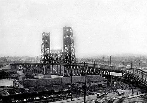 Then  Now Steel Bridge - Artslandia