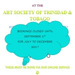ASTT Gallery Bookings Now Closed Until September 1st