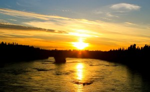 Sunset over Kenai River