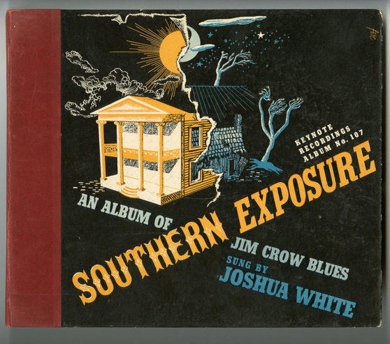 Cover of Josh Whiteu0027s album Southern Exposure An Album of Jim - cover note