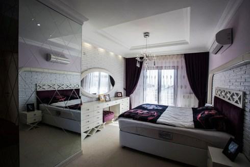 Modern Villa Dekorasyon Örnekleri, Villa Yatak Odası
