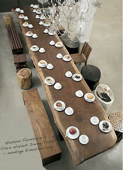 kütük ağaç masa modelleri