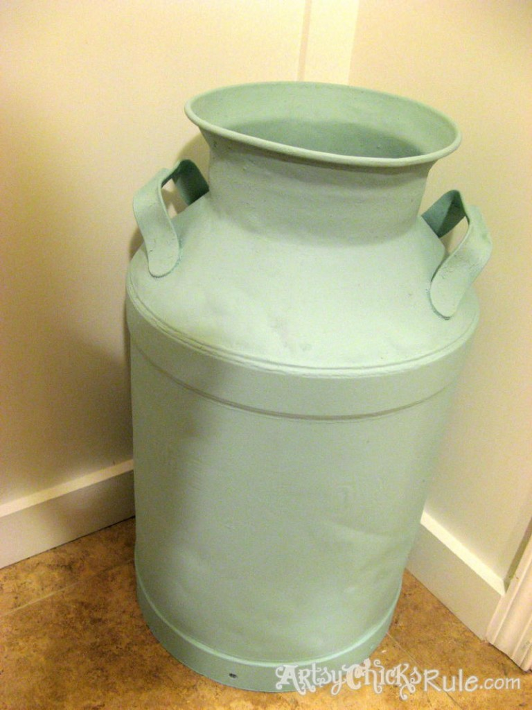 Decorative Milk Urn Old Milk Can Makeover Tutorial Artsy Chicks Rule