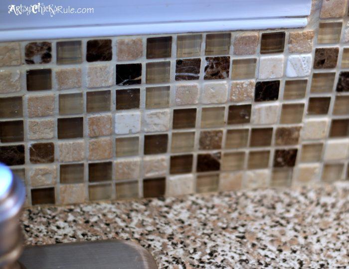 picture worked trim window glass tile backsplash slightly glitzier alternative