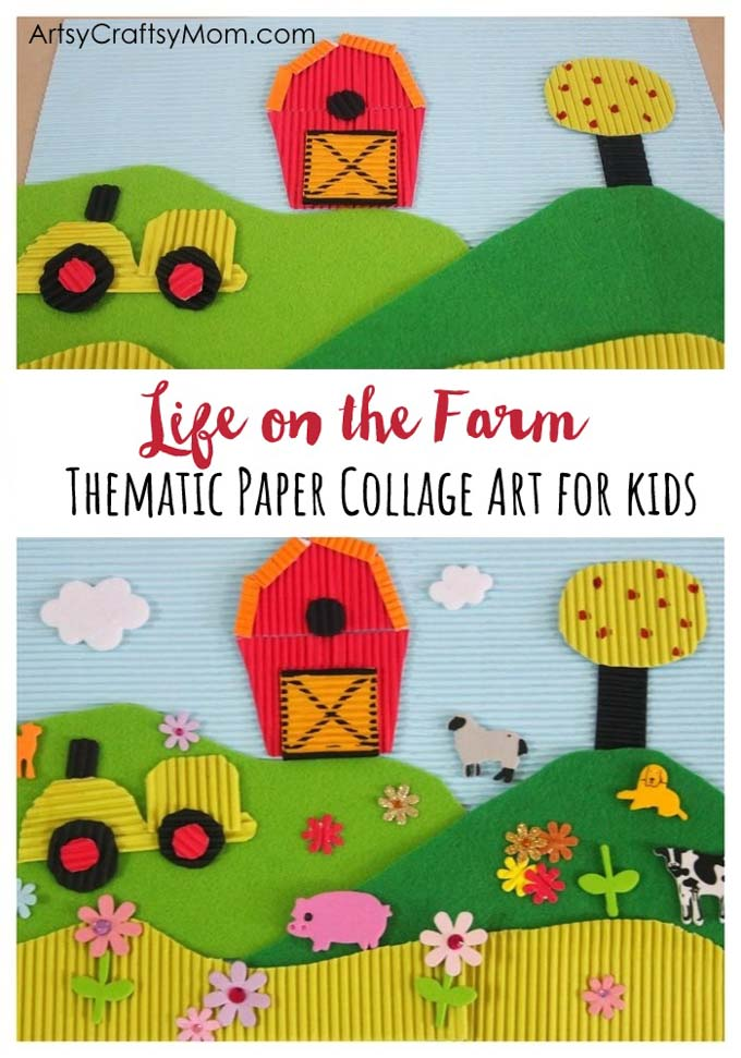 Travel Blog Examples Life On The Farm Paper Collage Art For Kids Artsy