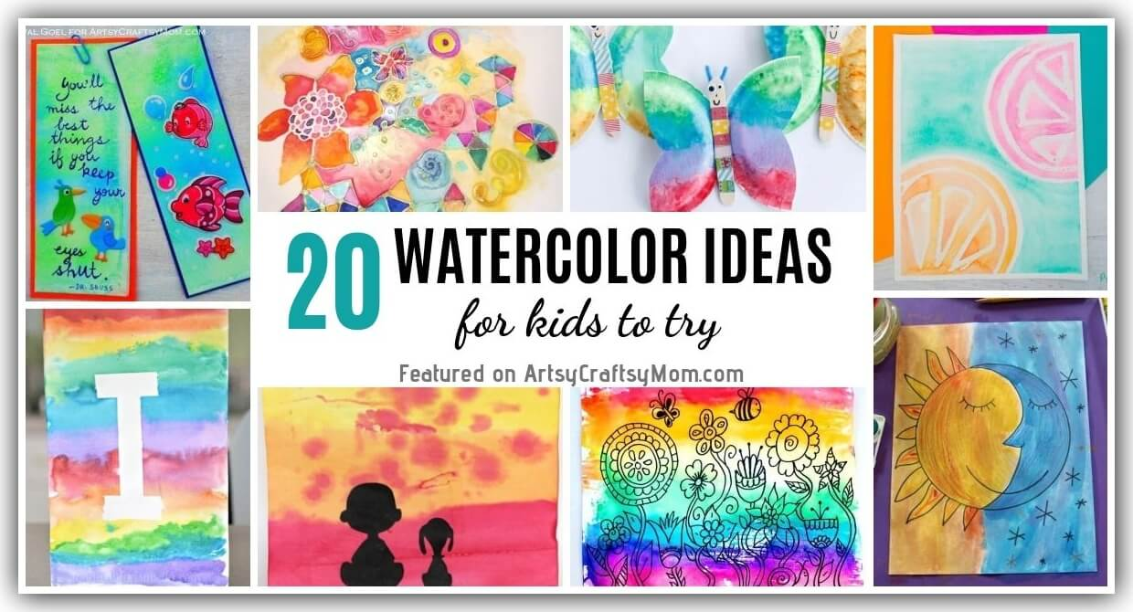 20 Easy Watercolor Projects For Kids