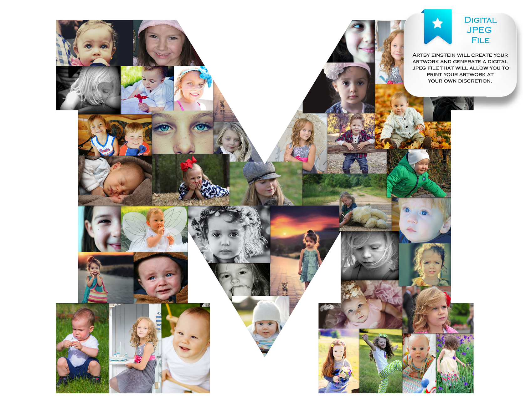 Letter Photo Collage Premium Hand Crafted Photo Collages Artsy - Online Collage Maker With Text