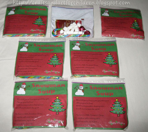 Snowman Soup with Free Printable Recipe Label - Artsy Momma