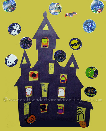 Printable Haunted House Craft for Halloween - Artsy Momma