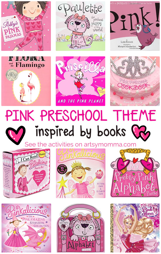 Pink Theme for Preschoolers Books and Activities - Artsy Momma