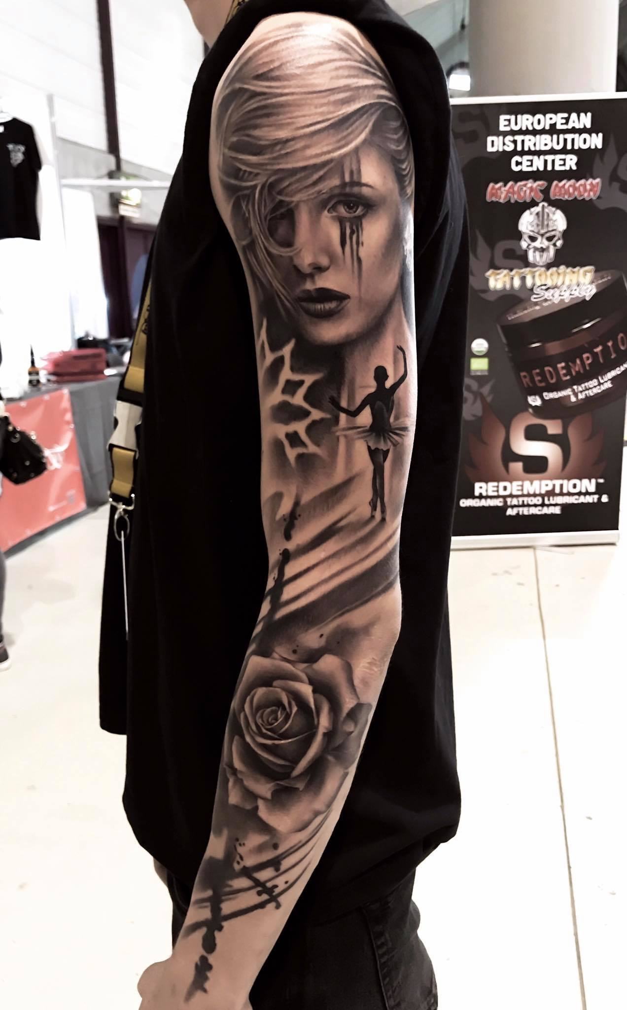 Tatoo Mannheim Sleeve Realistic Abstract Arttractive Tattoo Atelier