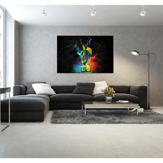 Decoration Murale Papier Tableau Contemporain Peinture De Couleur - Artwall And Co