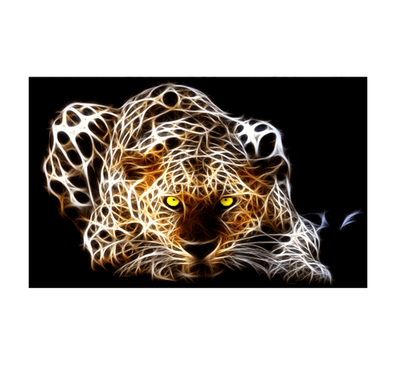 Decoration Murale Metal Moderne Tableaux Animaux Ghost Tiger