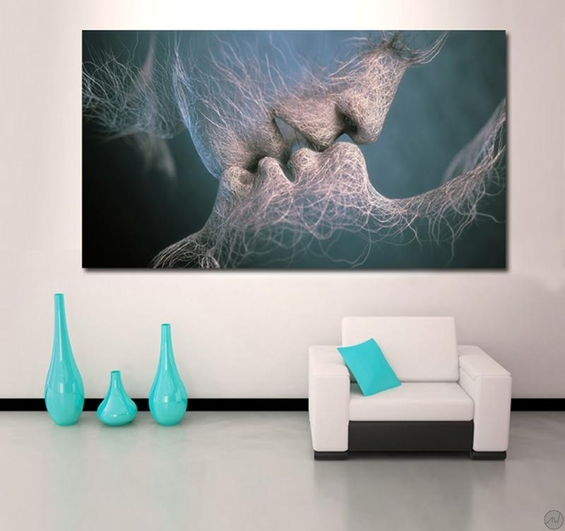 Serie Decoration Murale Tableau Design Invisible Kiss - Artwall And Co