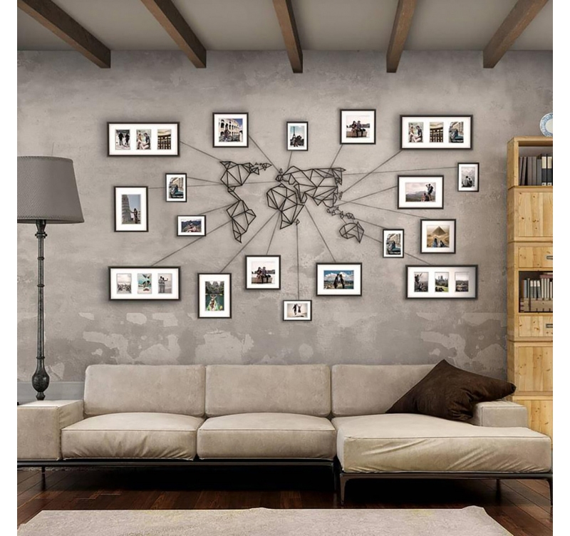 Decoration Murale Design 3d Metal Wall Decoration World Map - Artwall And Co