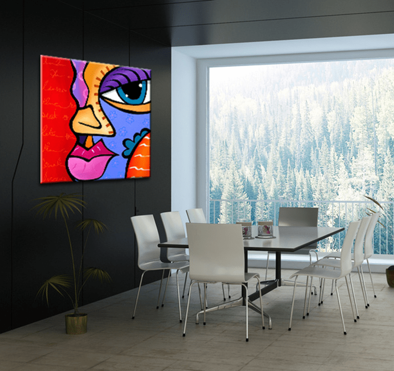 Grand Salon Pas Cher Tableau Moderne Pop Art Girl