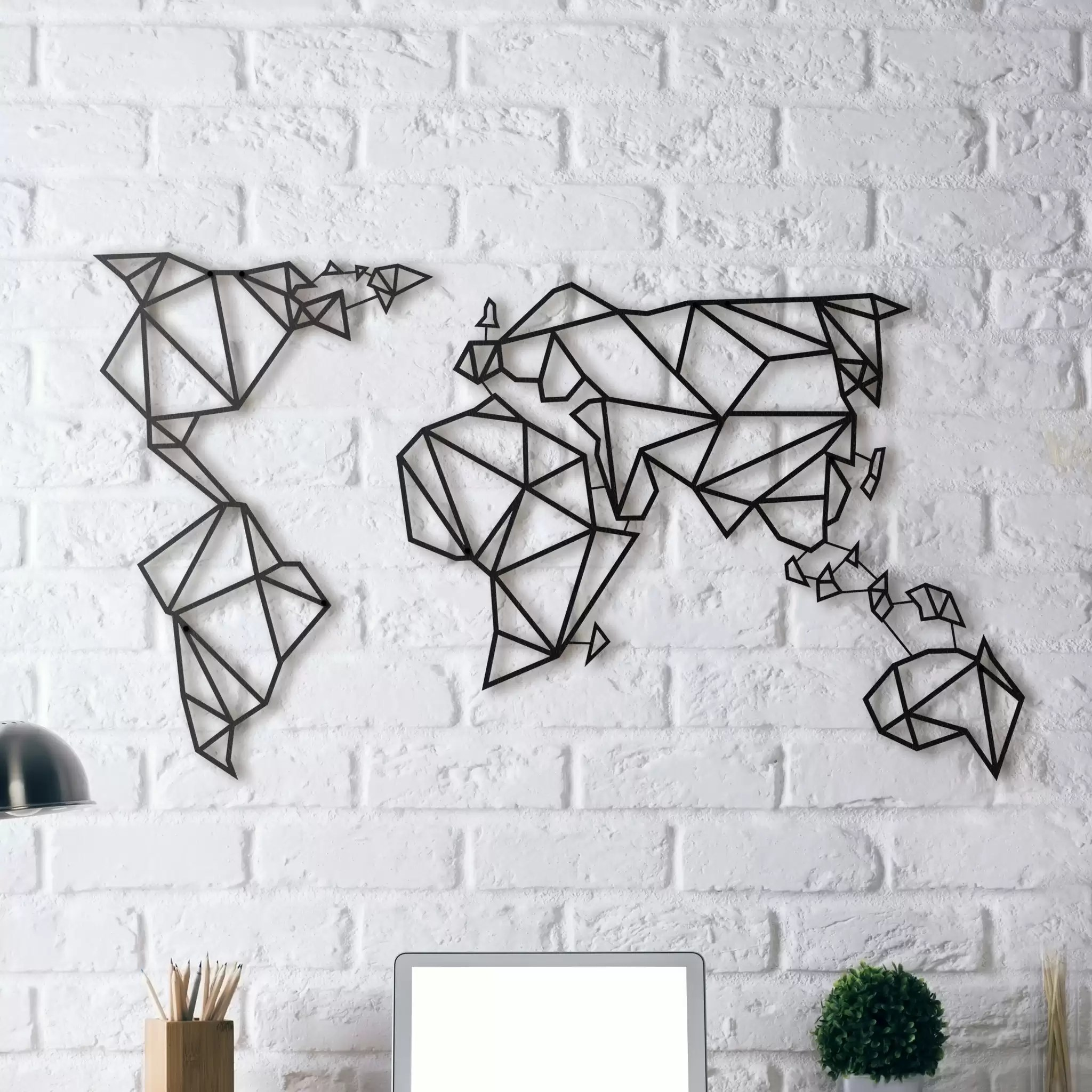 World Map Decorations Metal Wall Decoration World Map Artwall And Co