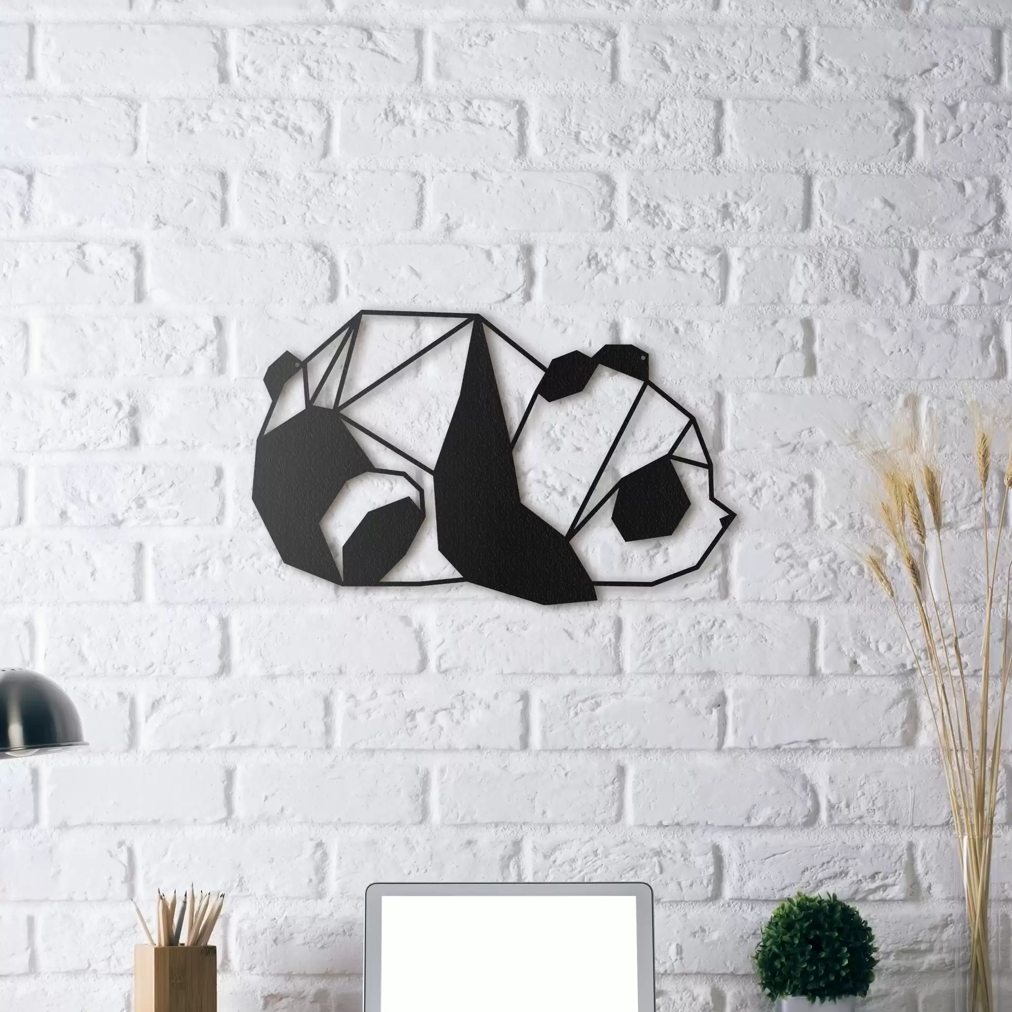 Wall Decoration Murale Metal Wall Decoration Panda Artwall And Co